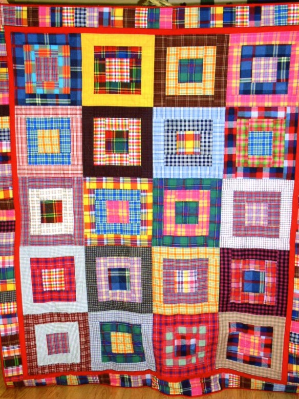 Happy Plaids is my own design, but there are MANY similar quilts out there