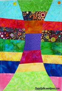 art quilt, improvisational piecing