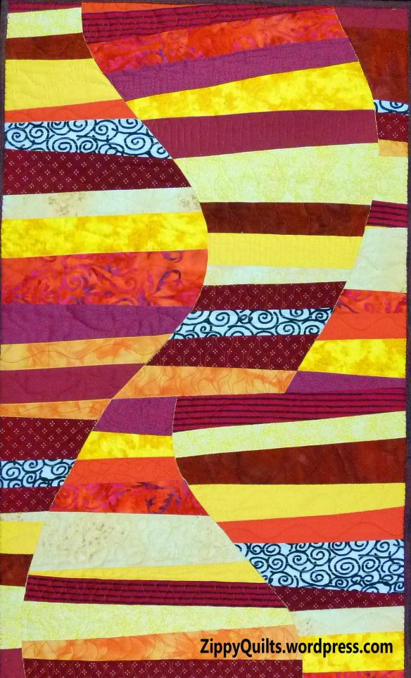 art quilt, improvisational piecing