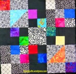 bright and black quilt block