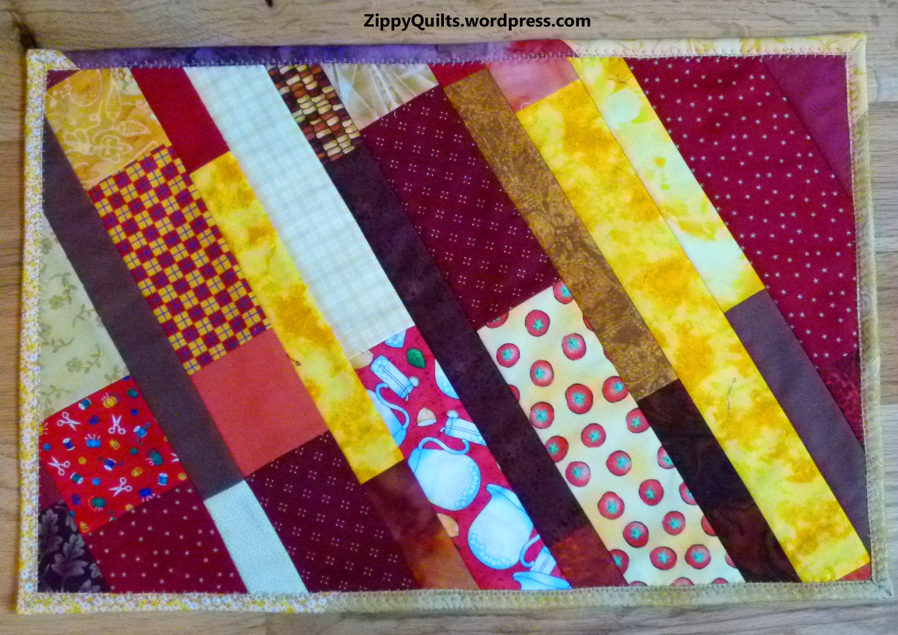 Scrappy Strippy Placemats Zippy Quilts