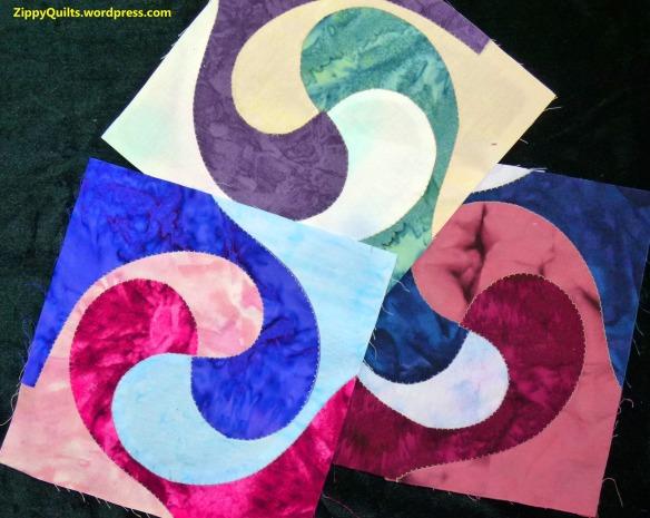 Yin Yang quilt blocks