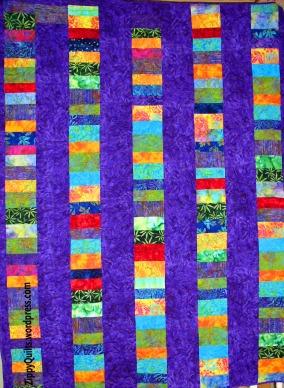 batik quilt back