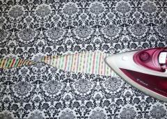 ironing quilt binding