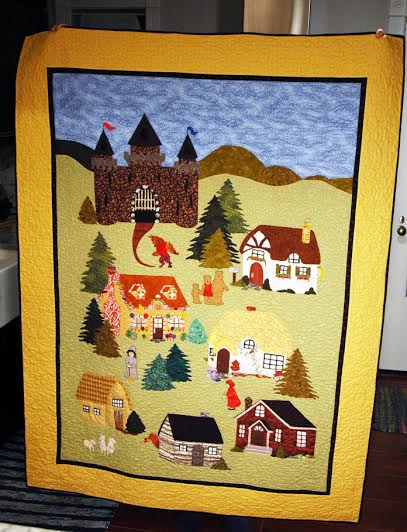applique storybook quilt