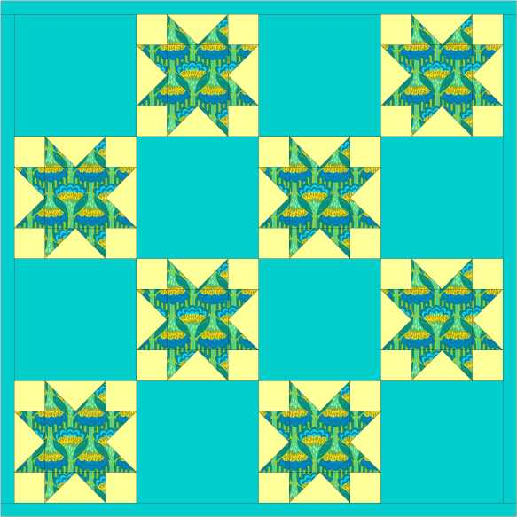 pieced star quilt
