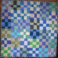 improv pieced quilt