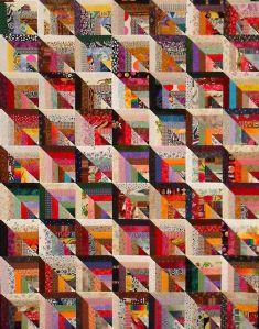 pieced modern quilt