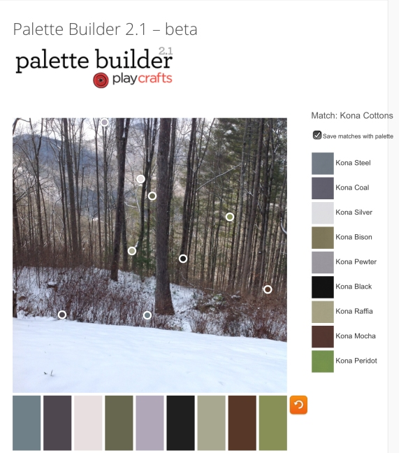 screen shot from PaletteBuilder