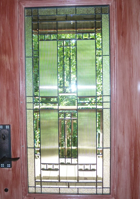 Door with art glass window