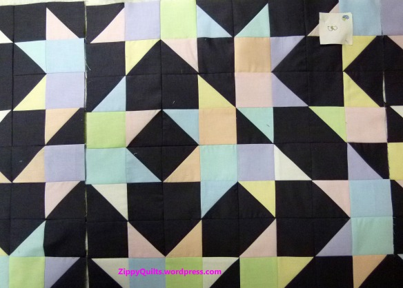 Pieced quilt, Michael Miller Cotton Couture fabrics