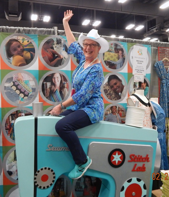 Riding Sewing Machine at QuiltCon