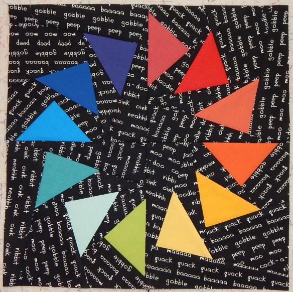 modern paper pieced block