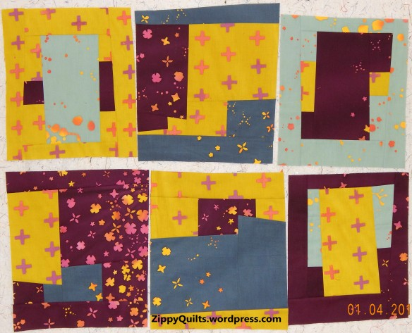 improvised modern quilt blocks