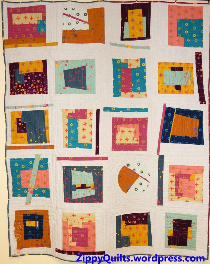 improvised modern quilt