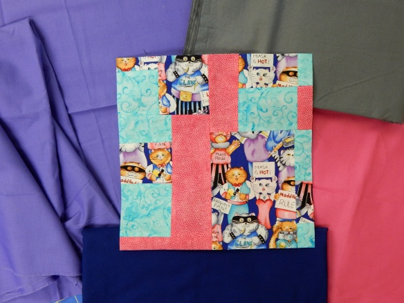 improvisational quilt block