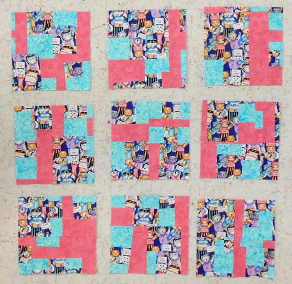 improvised quilt blocks