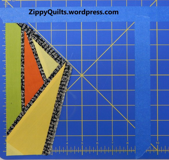 Improvised quilt block