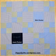 Quilt top made from khaki pants and 2 shirts