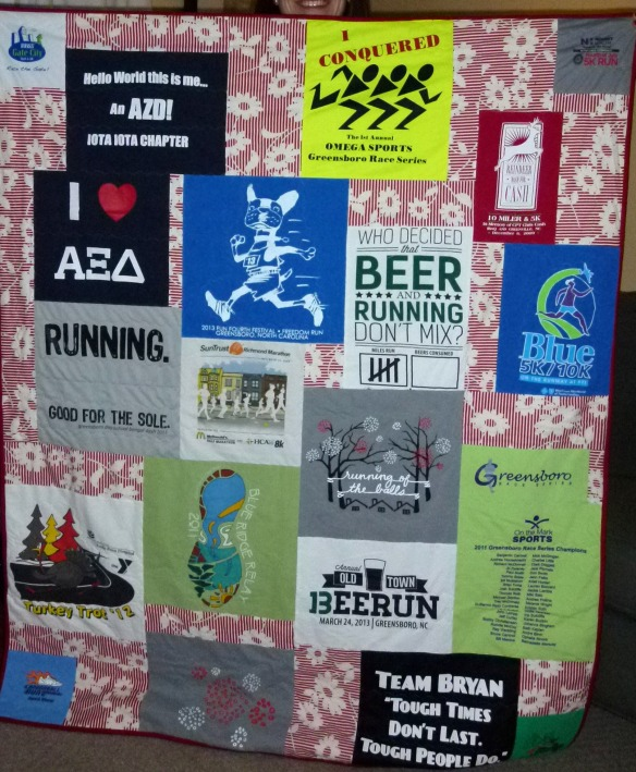Improvised T Shirt Quilt