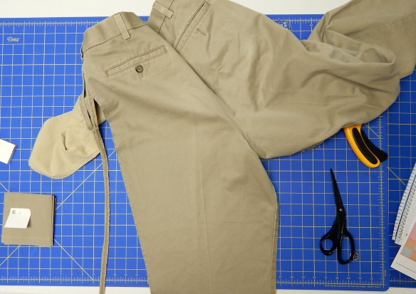 quilt from khaki pants