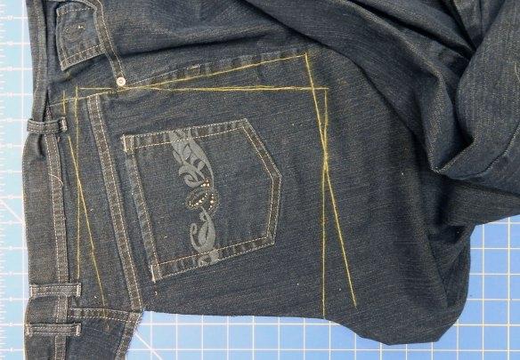 Jeans pocket quilt block