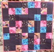 Simple quilt from a recipe on Craftsy