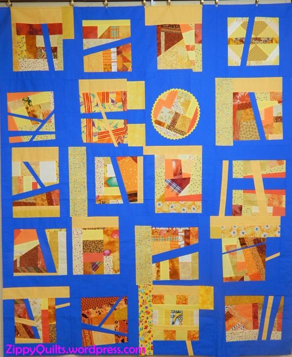 Improvised slab quilt
