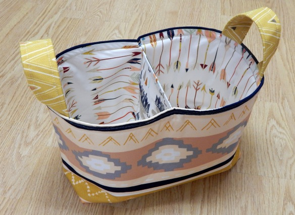 Divided basket made from pattern by Noodlehead