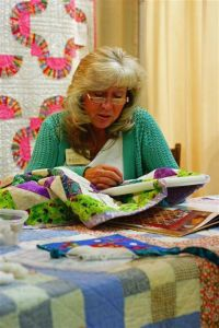 Connie Brown, hand quilting
