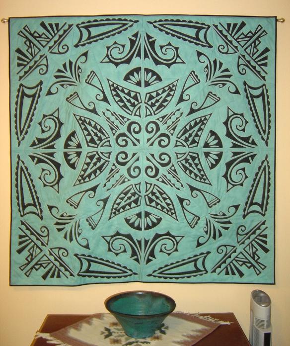 Stenciled quilt, J. Michelle Watts