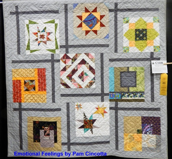 Modern quilt from Vermont Quilt Festival