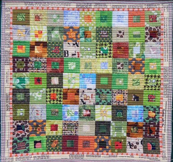 Quilt by Yuko Miyashita of Japan, in response to a challenge to represent Grandma Moses