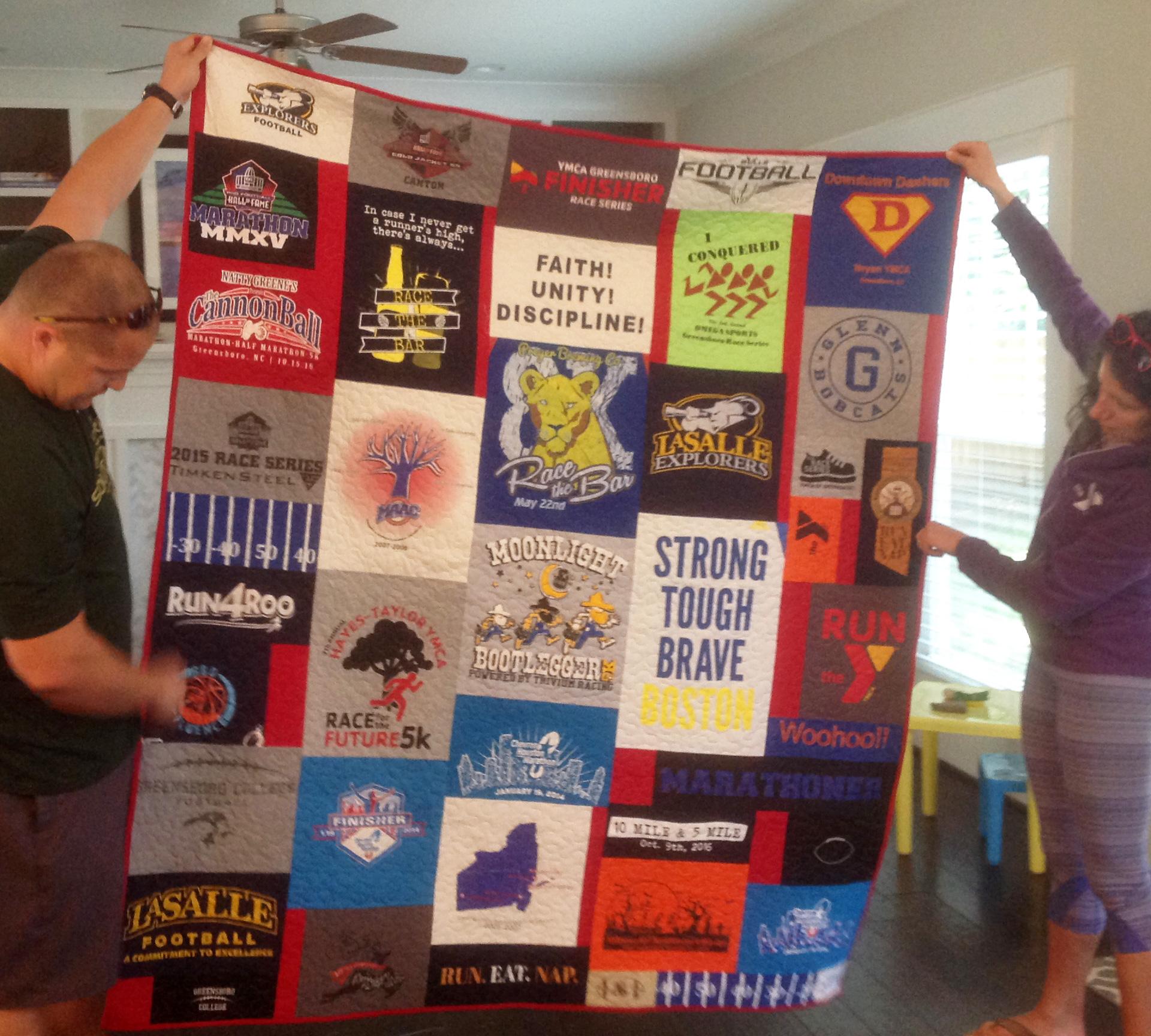 T-shirt quilt design instructions - T Shirt Quilt