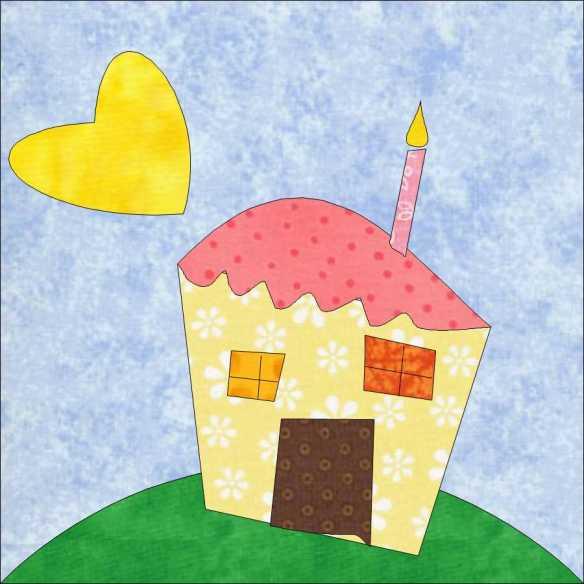 wonky house block
