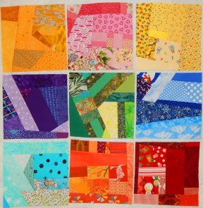 slabs, scrap blocks, scrap quilt