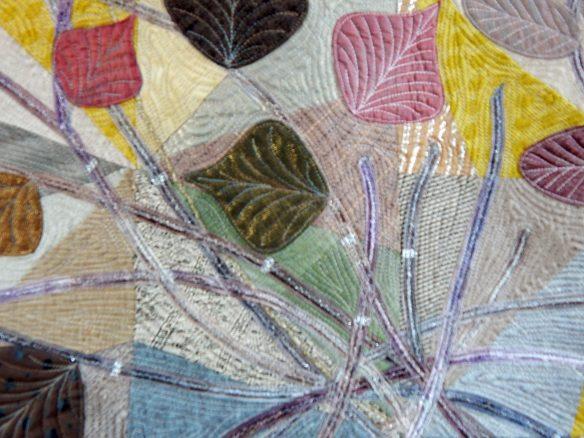 metallic embellishment in quilt