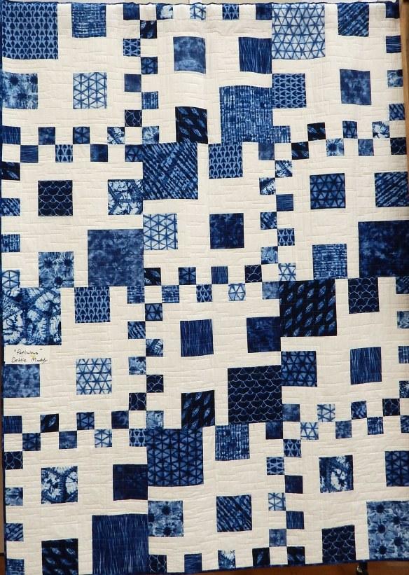 modern quilt indigo dye