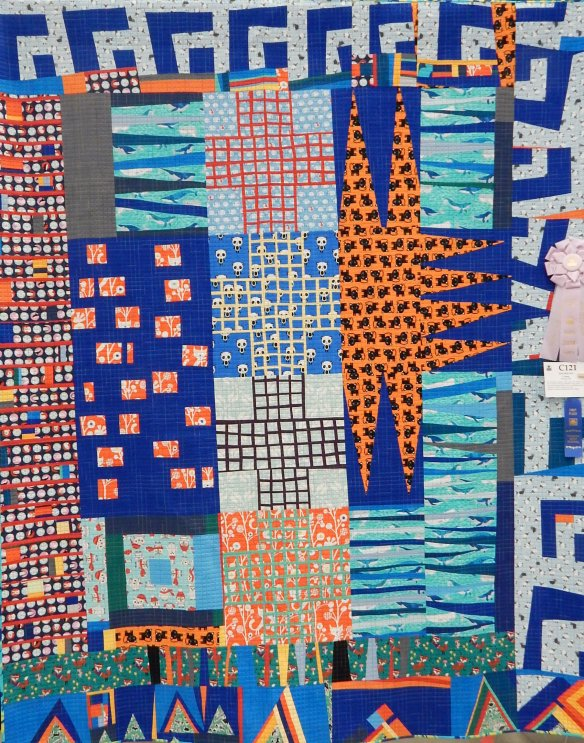 abstract art quilt