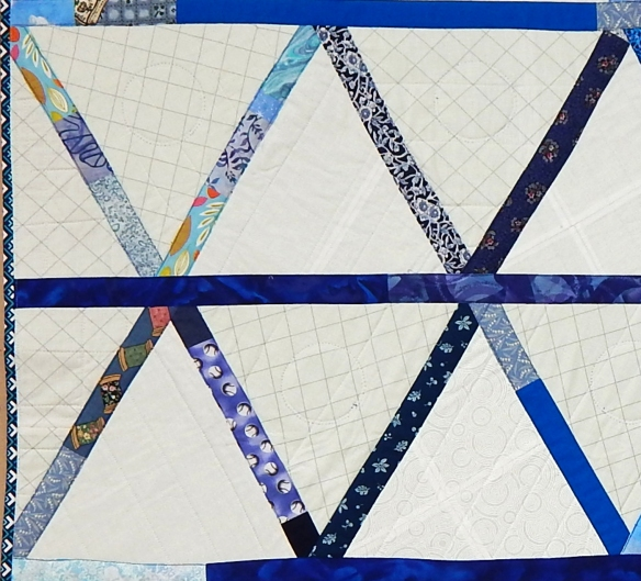 Back of quilt, showing quilting lines