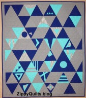 """Triangle Variations"" did not get to go to a quilt show due to COVID"