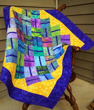 I finally bound this quilt, which was a practice piece for a pattern I developed last fall